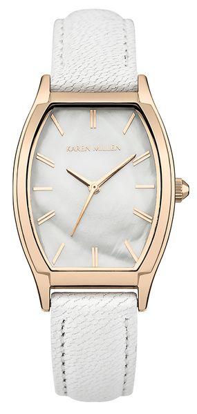 Фото - Часы наручные женские Karen Millen, цвет: золотистый, белый. KM151WRG женские часы karen millen km107gm