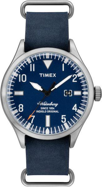 Часы наручные мужские Timex, цвет: серебристый, синий. TW2P64500 наручные часы мужские timex цвет серый синий t5k804
