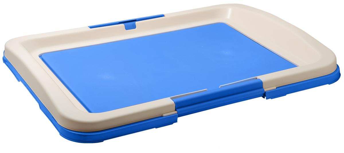 Туалет для собак V.I.Pet Японский стиль, цвет: синий, молочный, 63 х 49 х 6 см туалет для собак v i pet японский стиль цвет коричневый молочный 48 х 35 х 5 см
