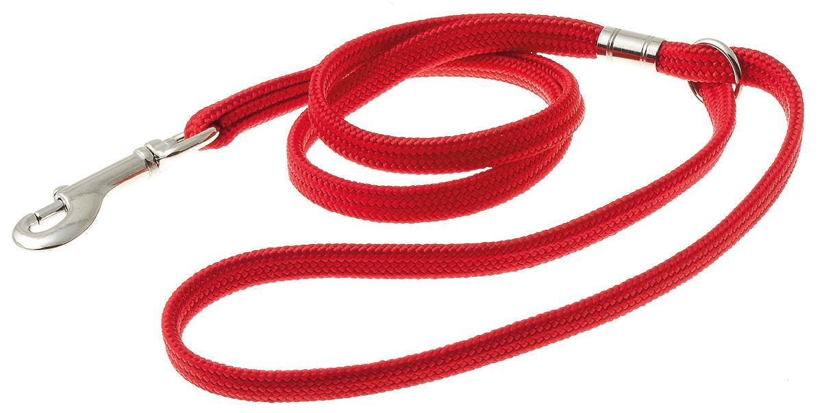 """Петля ринговочная """"V.I.Pet"""" для груминг стойки-кронштейна, с кольцом, цвет: красный, длина 50 см"""