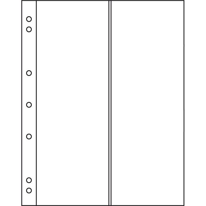 Лист в альбом Numis NH 2VC на 2 ячейки. Leuchtturm. 312944 (10 листов в упаковке) лист в альбом numis nh 6 для монет leuchtturm на 6 ячеек 5 шт