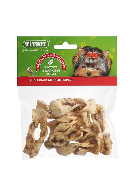 Лакомство для собак Titbit, плетенки из говяжьей кожи