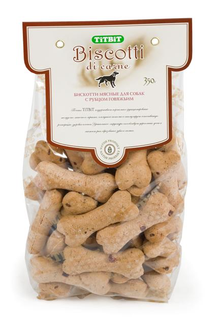 """Печенье для собак Titbit """"Biscotti"""", с говяжьим рубцом, 350 г"""