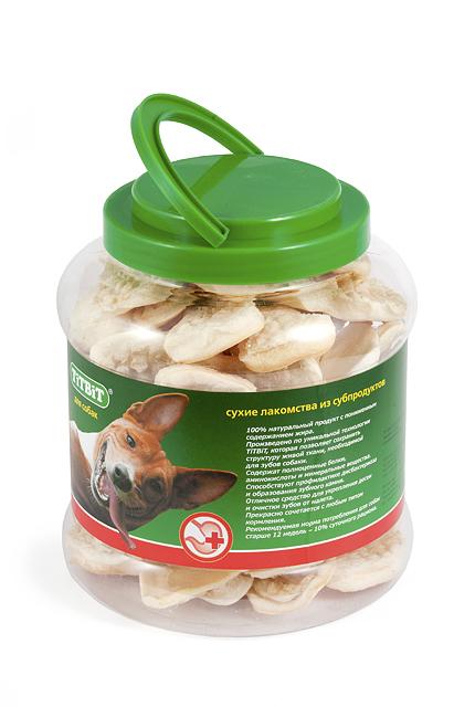 Лакомство для собак Titbit, мясная слоеная косточка, 4,3 л лакомство для собак titbit голень баранья 2 шт
