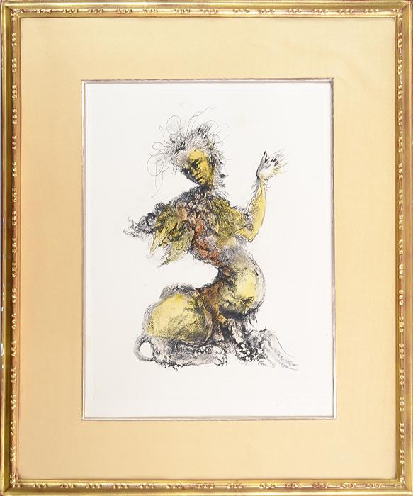 Цветная литография Фантастический персонаж. Леонор Фини (Leonor Fini). Франция, 1970-1980 гг шампунь леонор