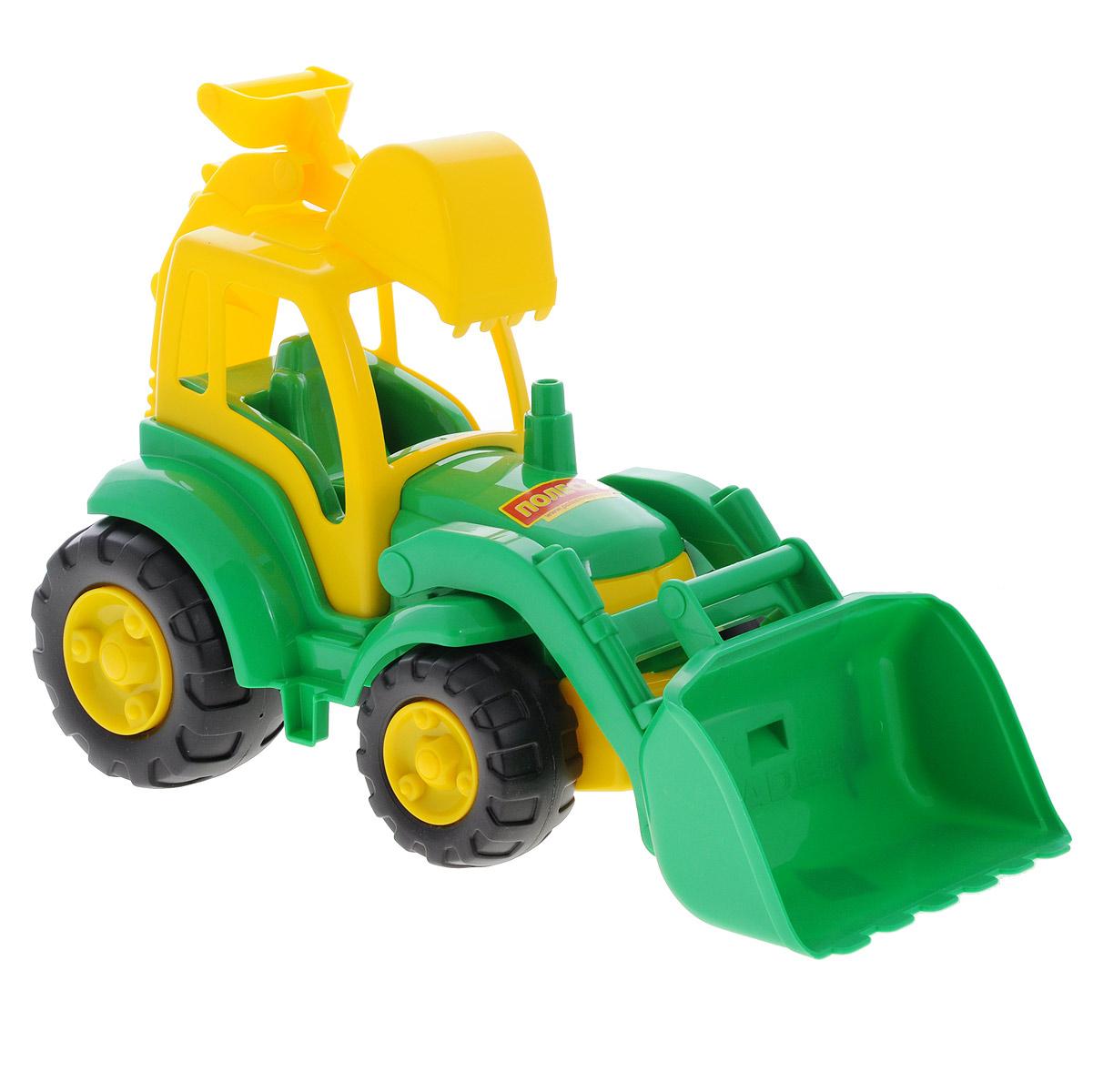 Трактор Полесье Чемпион, 513, цвет в ассортименте polesie трактор с лопатой и ковшом чемпион полесье