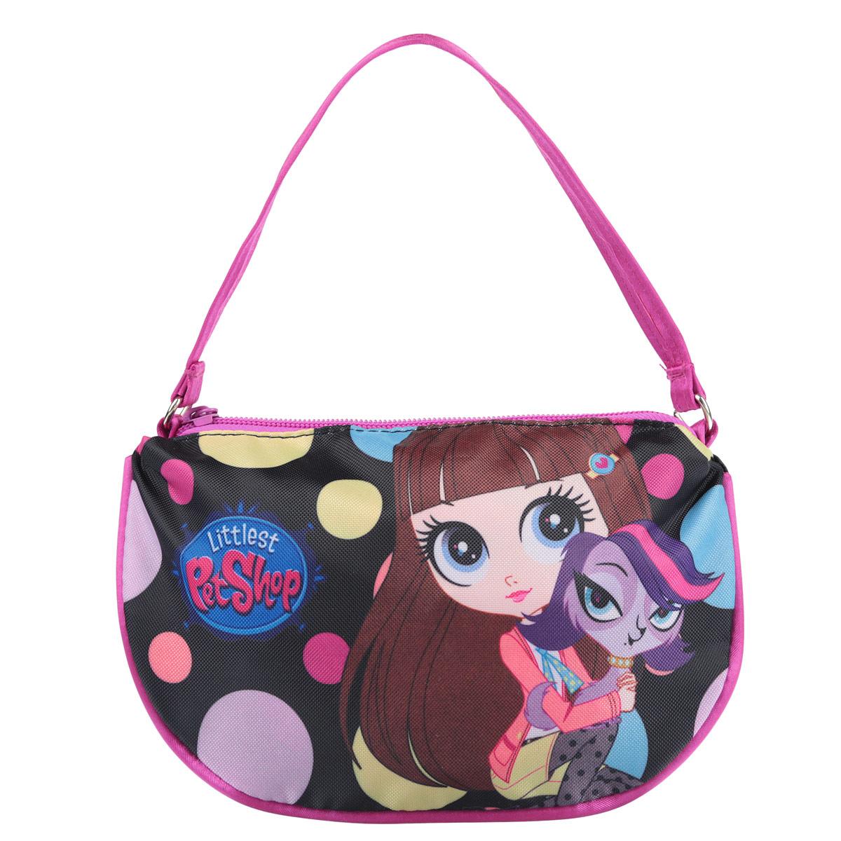 Сумочка детская Littlest Pet Shop, цвет: черный, розовый. LPCB-UT3-4017 pet shop boys brasília