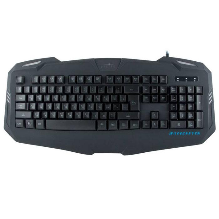 Игровая клавиатура Oklick 730G, Black всего отлично смеют и lk160 полноцветный версия с подсветкой от usb проводной клавиатуры игровой