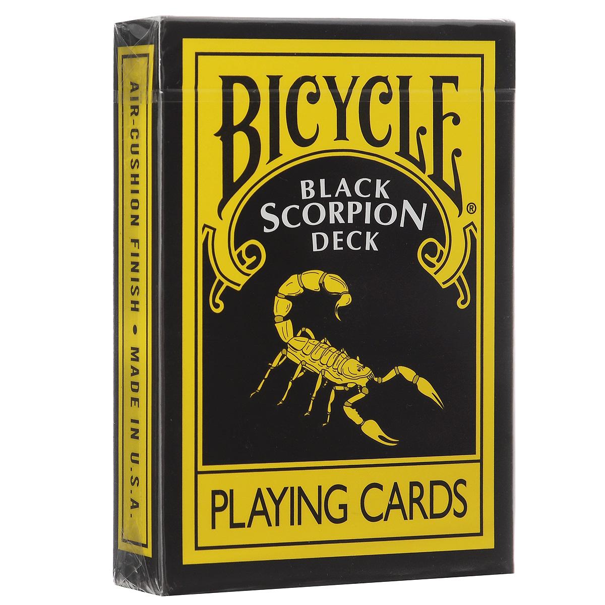 Карты игральные Bicycle Scorpion Deck, цвет: черный, желтый игральные карты bicycle spectrum deck цвет мультиколор 56 шт