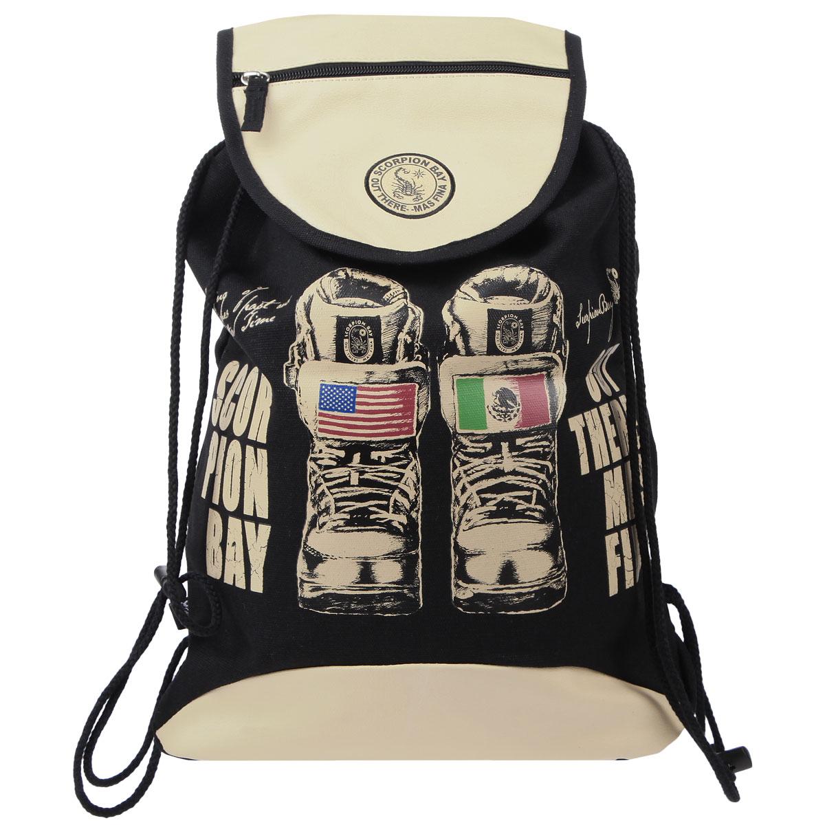 цена на Сумка-рюкзак для обуви Scorpion Bay, цвет: бежевый, черный