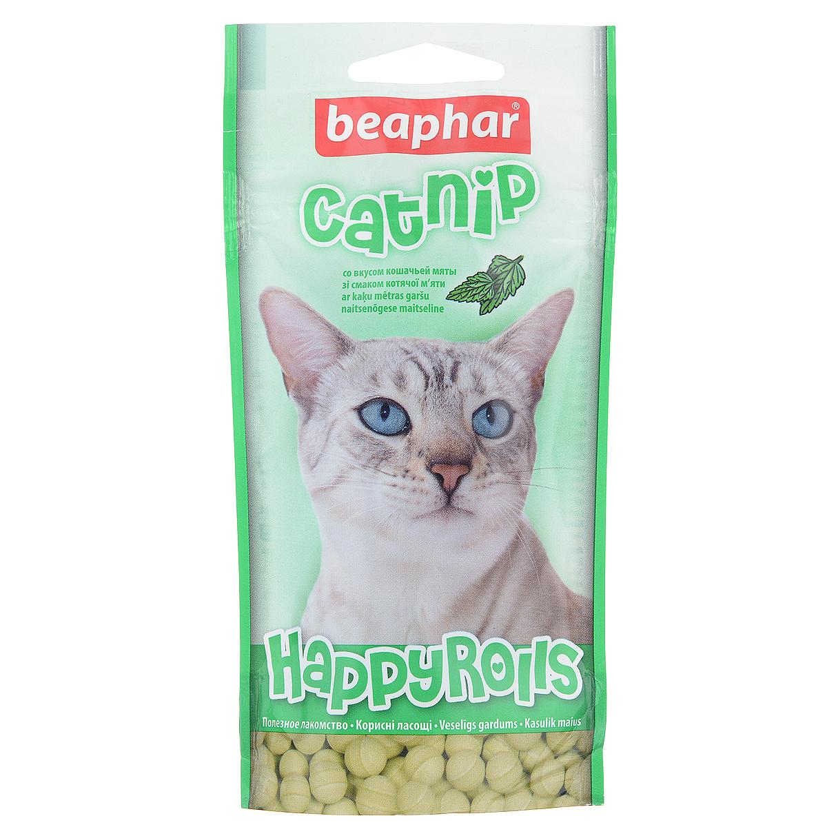 Лакомство для кошек Beaphar Catnip, с кошачьей мятой, 80 шт лакомство для кошек beaphar catnip bits с кошачьей мятой 150 г