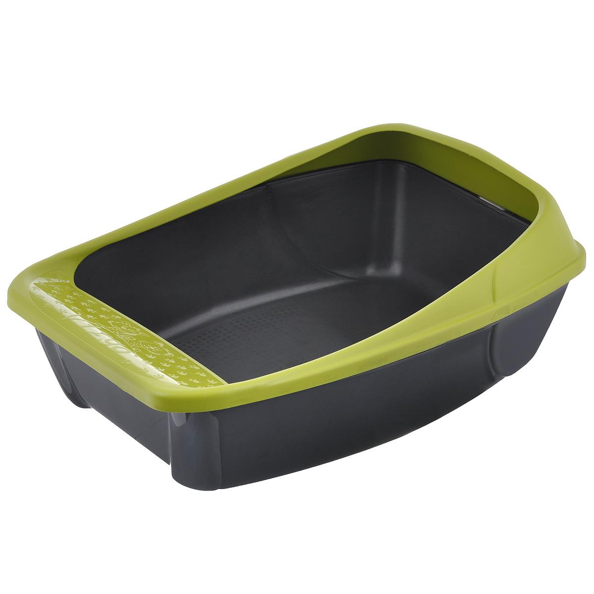 Фото - Туалет для кошек MPS Virgo, с бортом, цвет: салатовый, 52 см х 39 см х 20 см smile mps 3400
