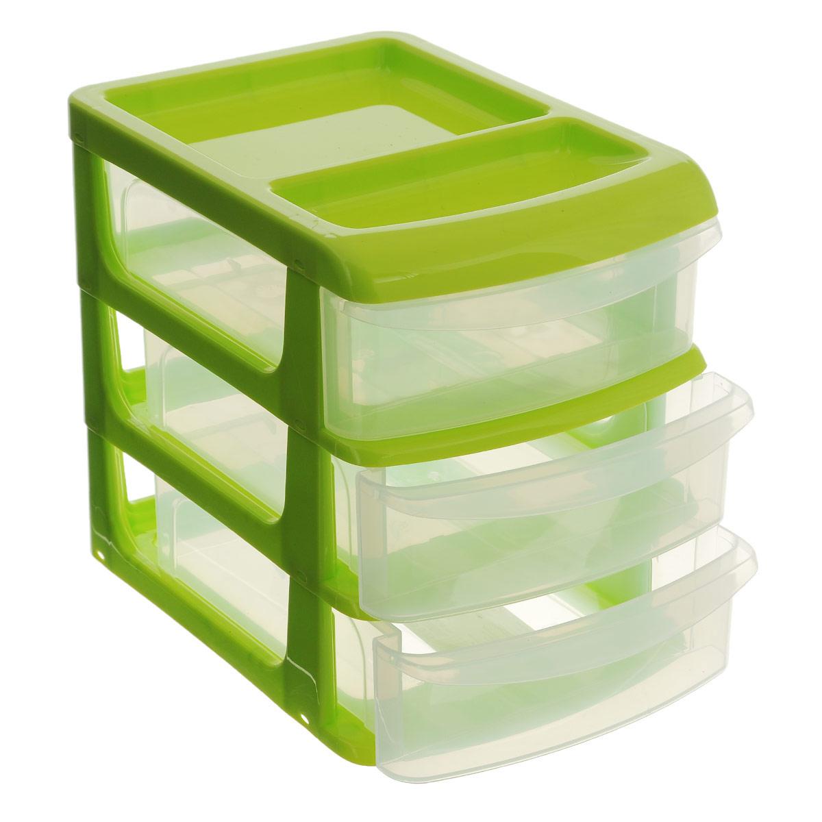 Бокс универсальный Idea, 3 секции, цвет салатовый, 20 см х 14,5 см х 18 см бокс универсальный idea 3 секции цвет салатовый 20 см х 14 5 см х 18 см