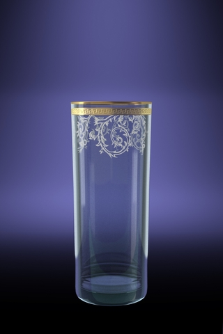 Набор 6 стаканов для сока ГЕО с рисунком Каскад 350 мл набор стаканов гусь хрустальный веточка 350 мл 6 шт