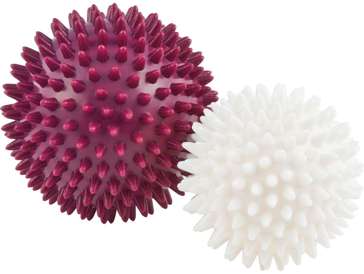 Мячи массажные Kettler, бордовый, жемчужно-белый, 2 шт скакалка kettler цвет жемчужно белый серый