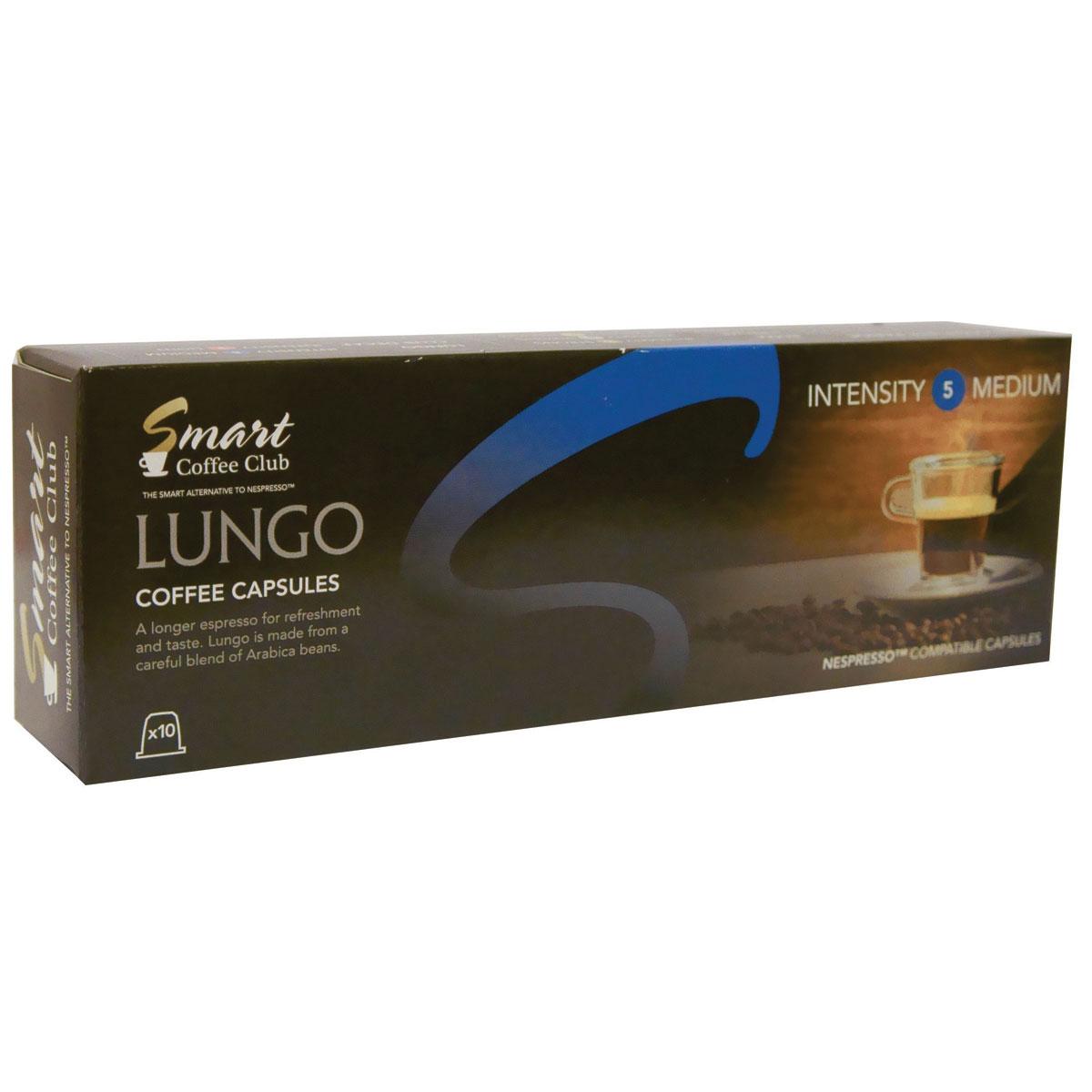 Smart Coffee Club Lungo кофе в капсулах, 10 штук капсулы для кофемашин smart coffee club roma 10 капсул