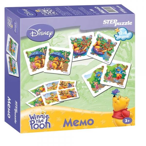 Step Puzzle Обучающая игра Мемо Медвежонок Винни набор карточек step puzzle