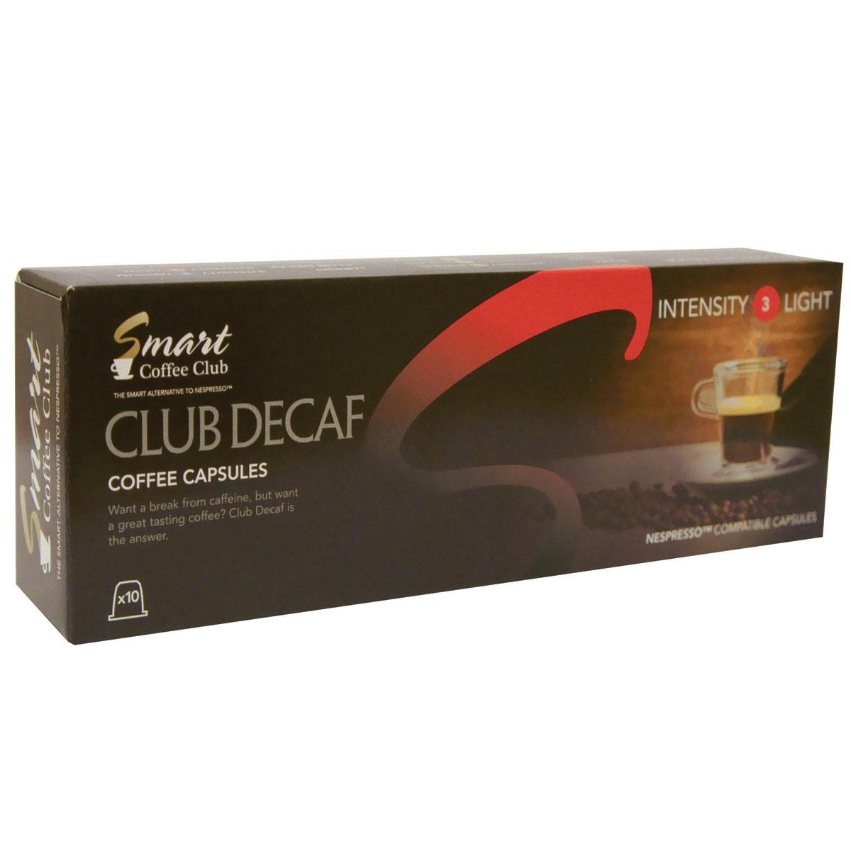 Smart Coffee Club Decaf кофе в капсулах, 10 штук капсулы для кофемашин smart coffee club roma 10 капсул