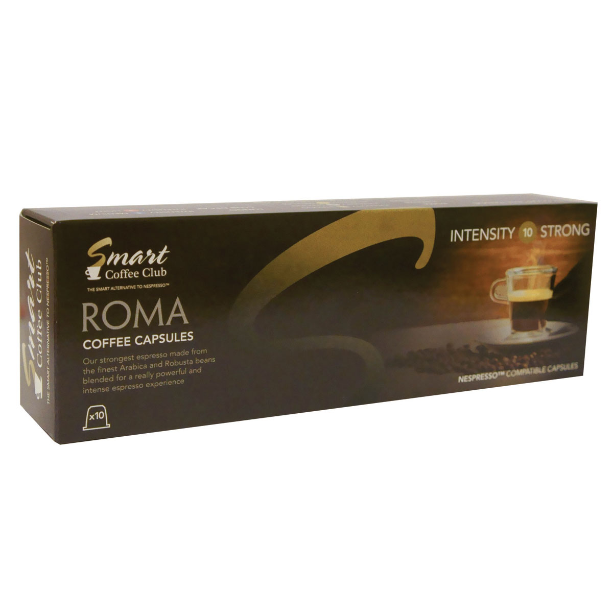 Smart Coffee Club Roma кофе в капсулах, 10 штук капсулы для кофемашин smart coffee club roma 10 капсул