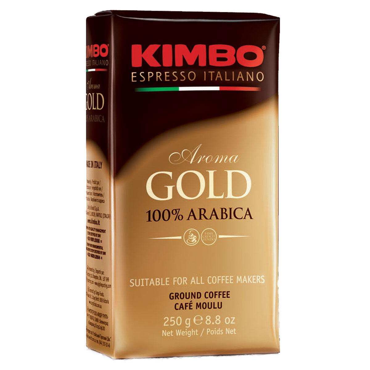 Kimbo Aroma Gold 100% Arabica кофе молотый, 250 г