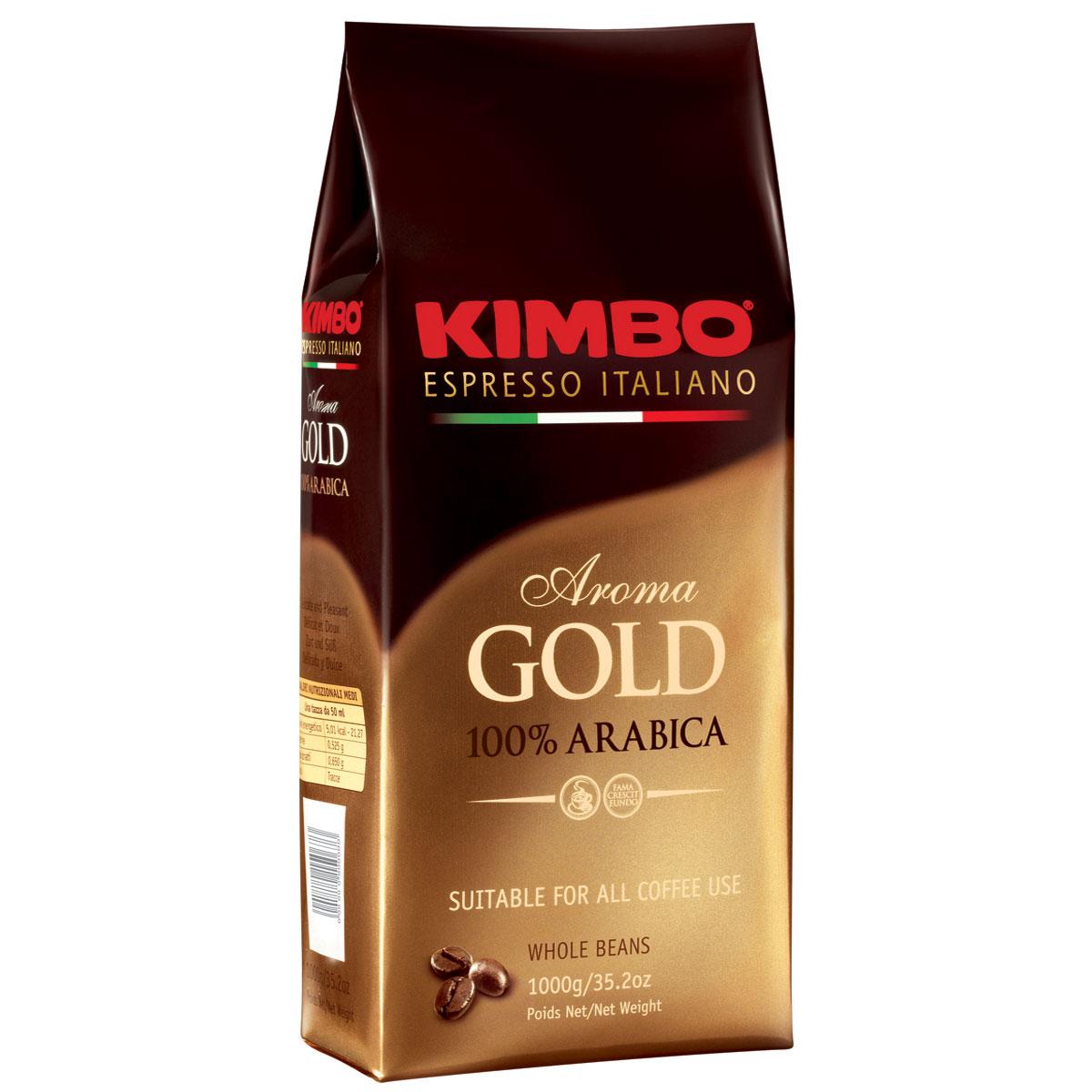 Kimbo Aroma Gold 100% Arabica кофе в зернах, 1 кг pausa aroma bar кофе в зернах 1 кг