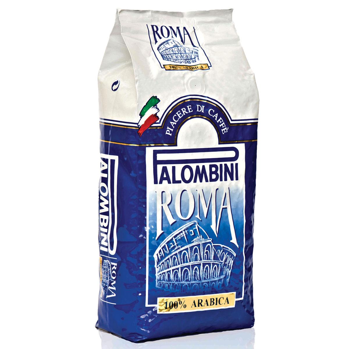 Palombini Roma 100% Arabica кофе в зернах, 1 кг кофе в зернах palombini pal caffe rosso special line 1 кг