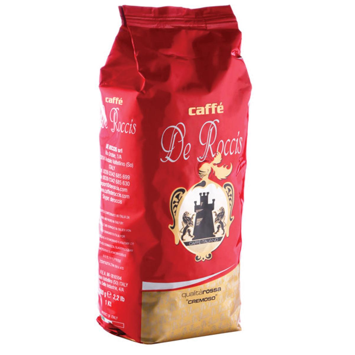 De Roccis Rossa кофе в зернах, 1 кг цена