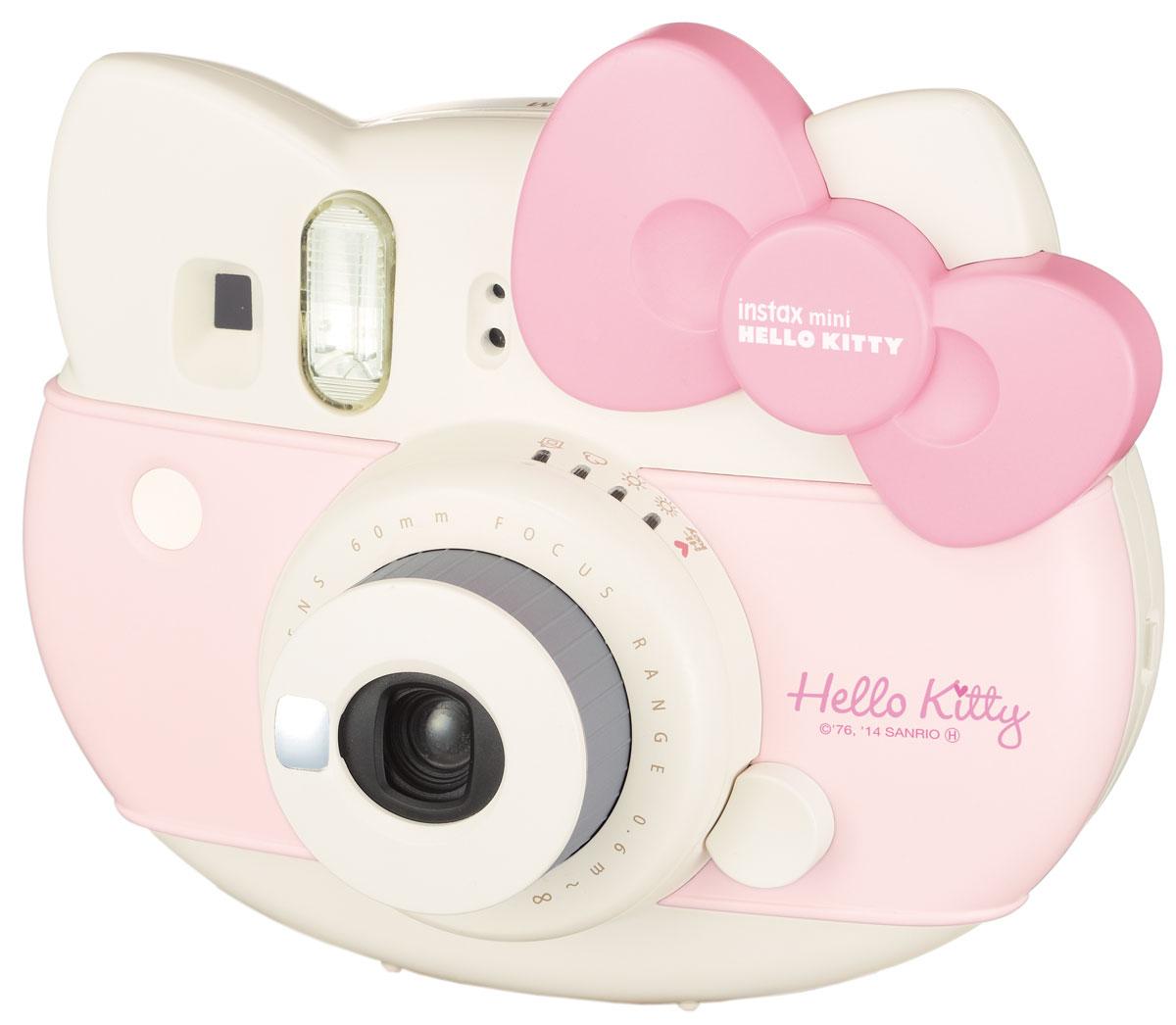 лучшая цена Fujifilm Instax Mini Hello Kitty, Pink фотоаппарат моментальной печати