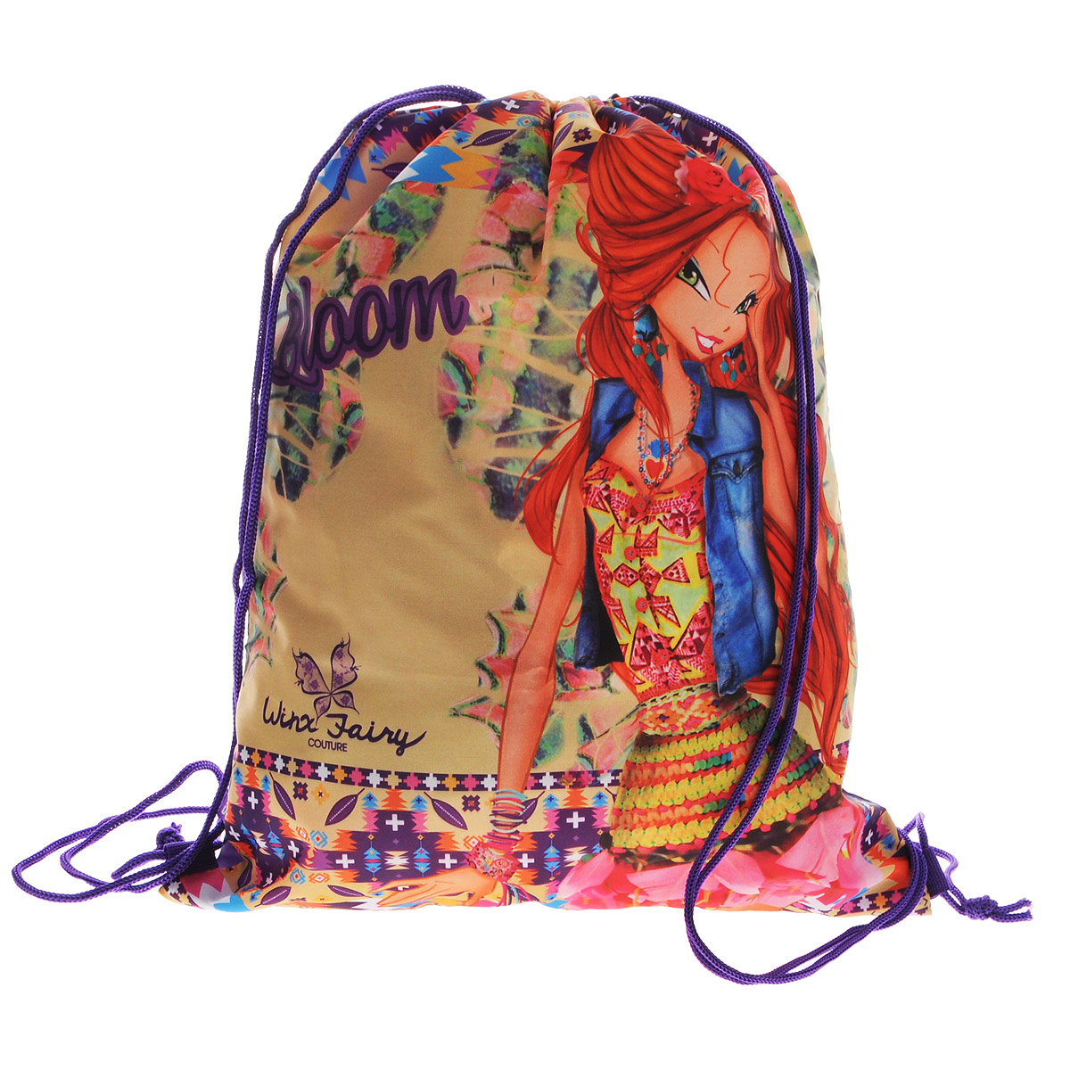 цена Winx Club Сумка-рюкзак для обуви Winx Fairy Couture цвет фиолетовый WXCB-UT1-883 онлайн в 2017 году