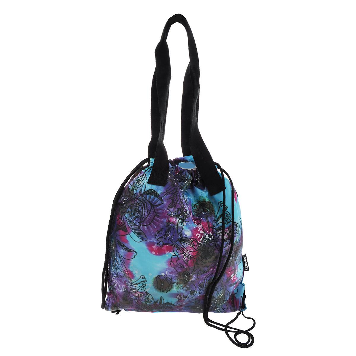 цена Seventeen Сумка-рюкзак для обуви с ручками цвет голубой SVCB-RT2-896 онлайн в 2017 году