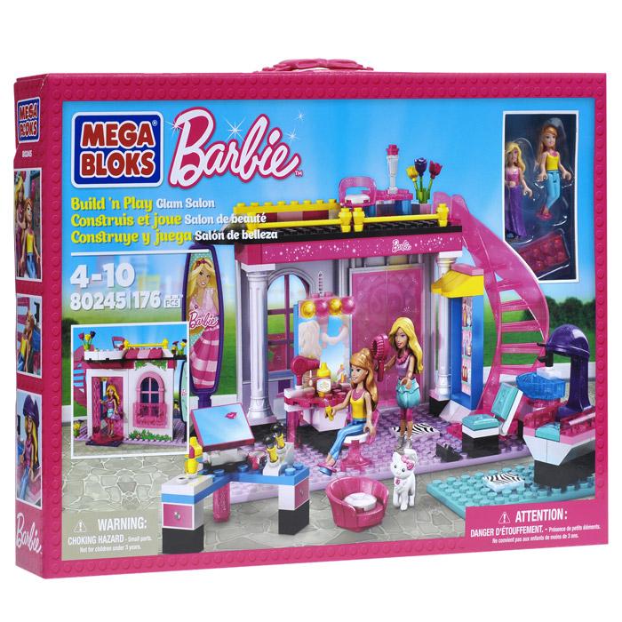 Конструктор mega bloks barbie разкрасителен салон