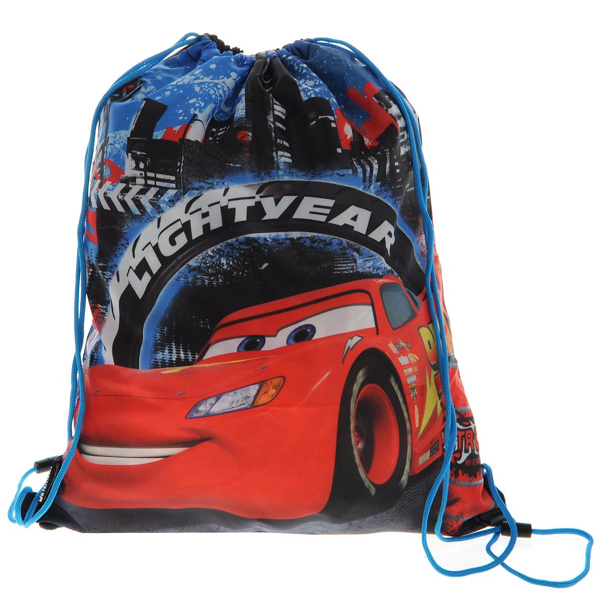 цена Cars Сумка-рюкзак для обуви цвет голубой красный CRCB-MT1-883 онлайн в 2017 году