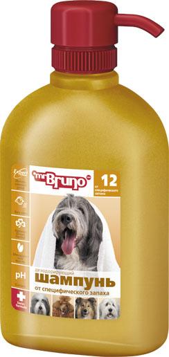 Шампунь-кондиционер для собак Mr. Bruno, дезодорирующий, от специфического запаха, 350 мл шампунь для собак mr bruno 12 дезодорирующий от специфического запаха