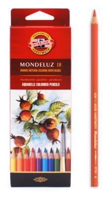Набор карандашей акварельных MONDELUZ, 18 цв набор карандашей акварельных mondeluz 24 цв