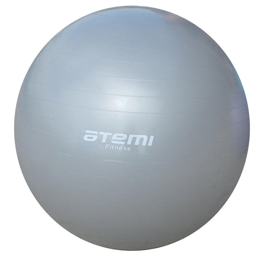 Мяч гимнастический, Atemi, серый, 85 см., AGB-01-85 мяч гимнастический ecowellness цвет серый зеленый диаметр 65 см