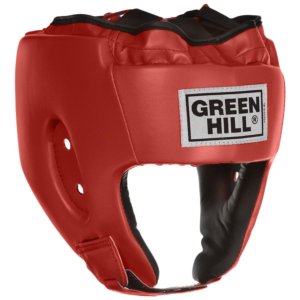 Шлем боксерский Green Hill Alfa, цвет: красный. Размер XL (61-63 см) цена