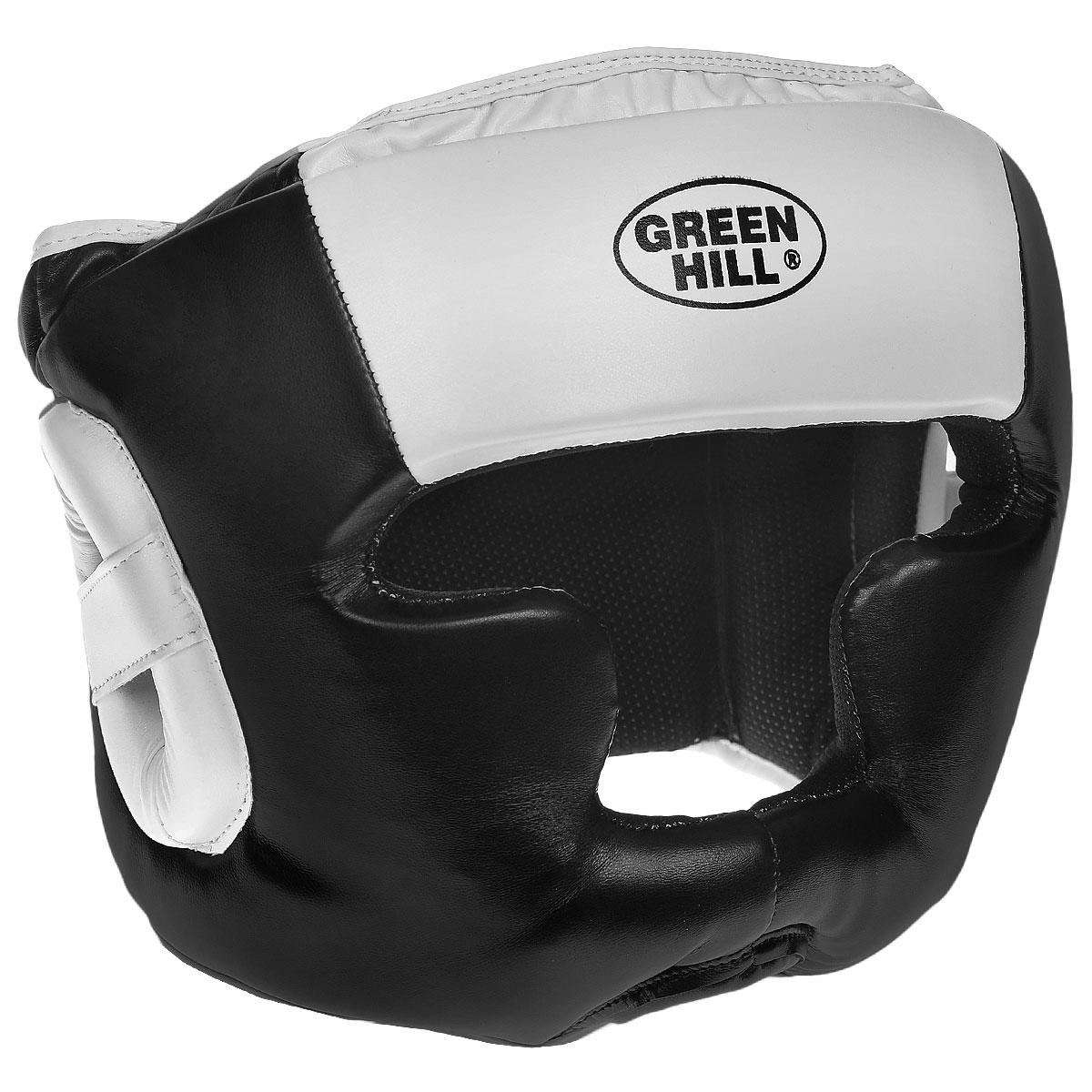 Шлем тренировочный Green Hill Poise, цвет: черный, белый. Размер XL (61-63 см) цена