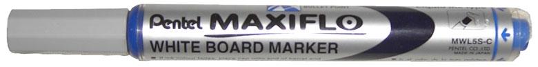 Маркер для досок синий 4.0 мм,с жидкими чернилами и кнопкой подкачки чернил MAXIFLO маркер для доски index imw200 4 5 мм 4 шт разноцветный imw200 4