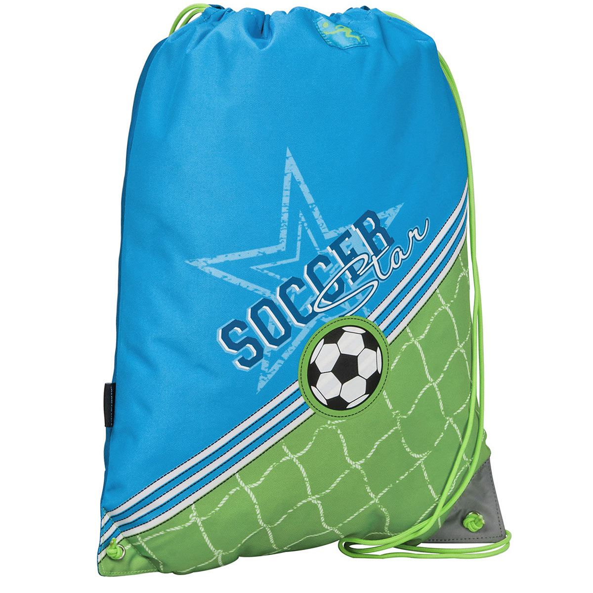 Сумка для сменной обуви Erich Krause Soccer, цвет: голубой, зеленый magic tree house fact tracker 29 soccer