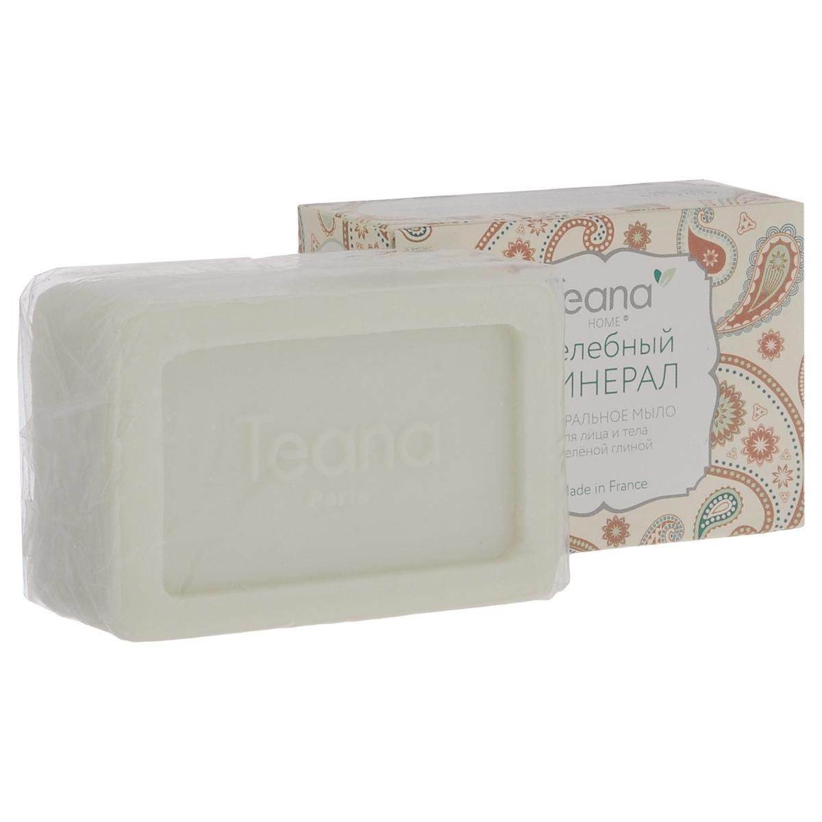 """Teana Натуральное мыло для лица и тела """"Целебный минерал"""", для жирной и проблемной кожи, с зеленой глиной, 100 г"""