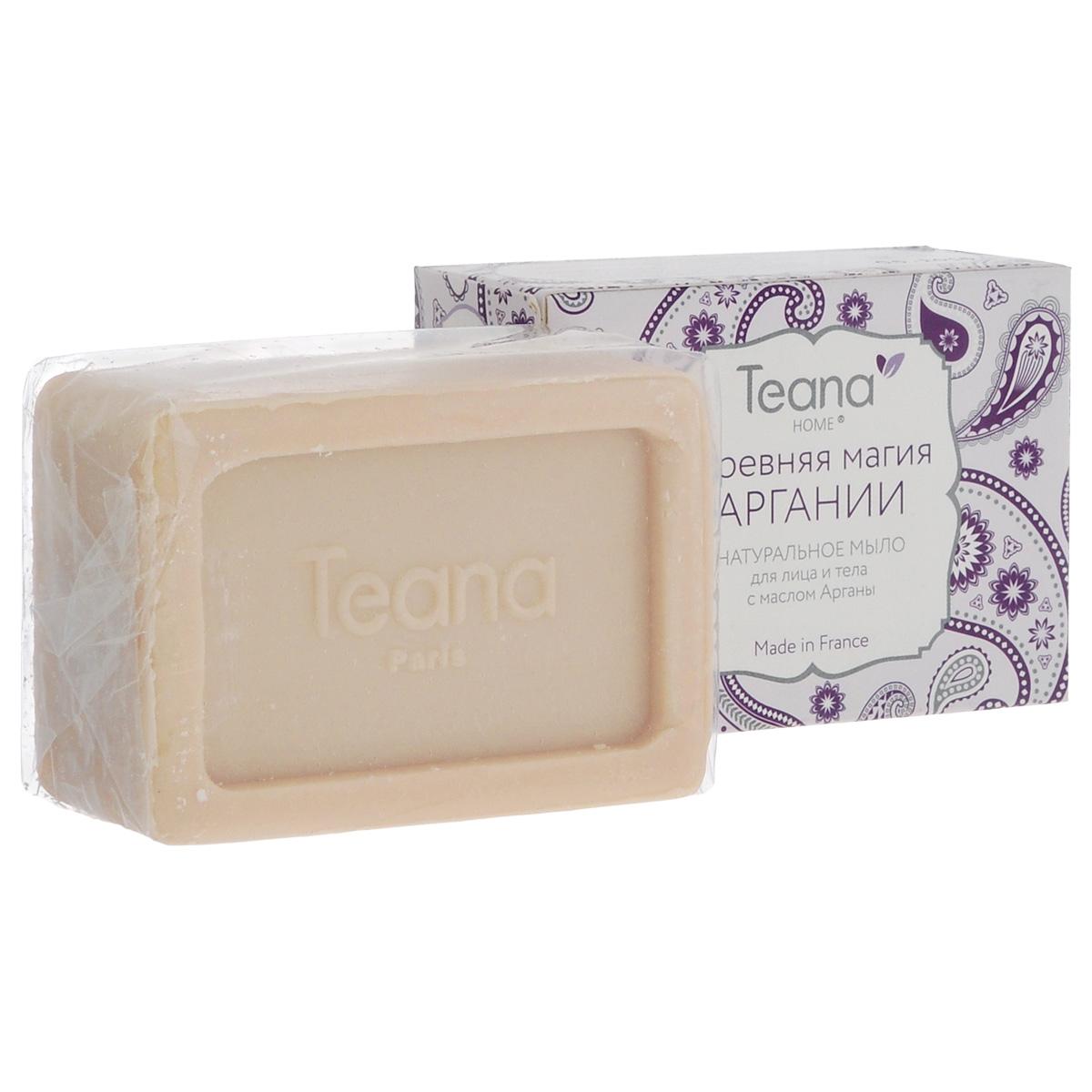 """Teana Натуральное мыло для лица и тела """"Древняя магия Аргании"""", для сухой и чувствительной кожи, с маслом Арганы , 100 г"""