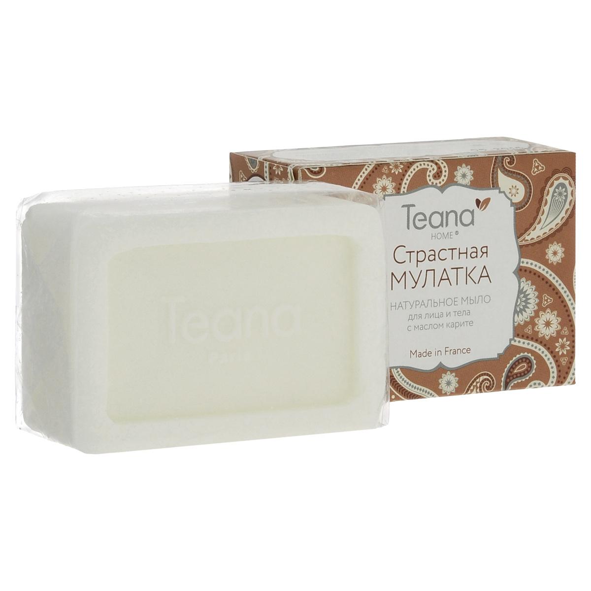 """Teana Натуральное мыло для лица и тела """"Страстная мулатка"""", для сухой кожи, с маслом карите, 100 г"""