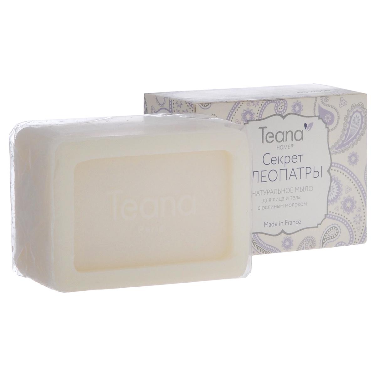 """Teana Натуральное мыло для лица и тела """"Секрет Клеопатры"""", для сухой и чувствительной кожи, с ослиным молоком, 100 г"""