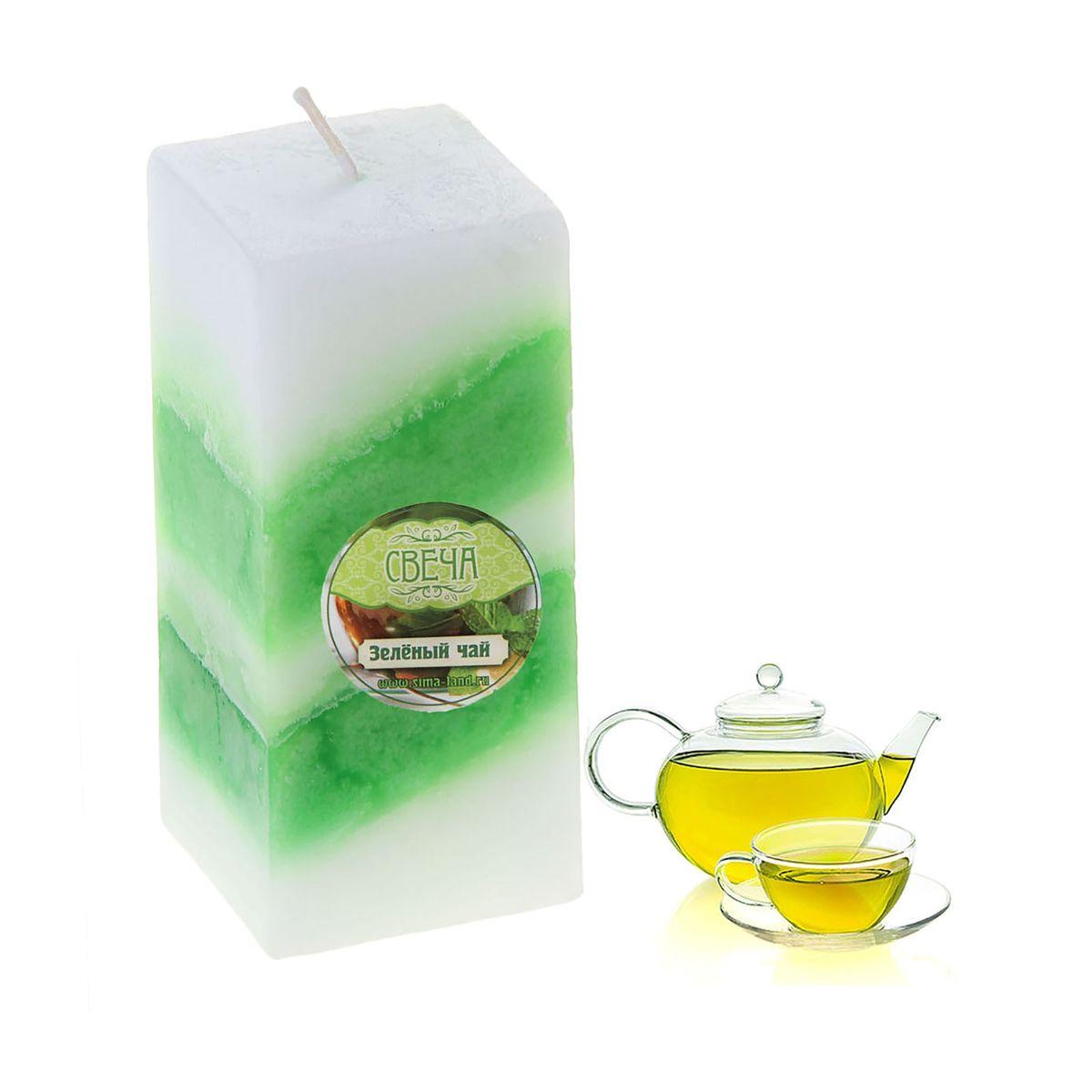 Свеча ароматизированная Sima-land Зеленый чай, высота 10 см брелок sima land сильный