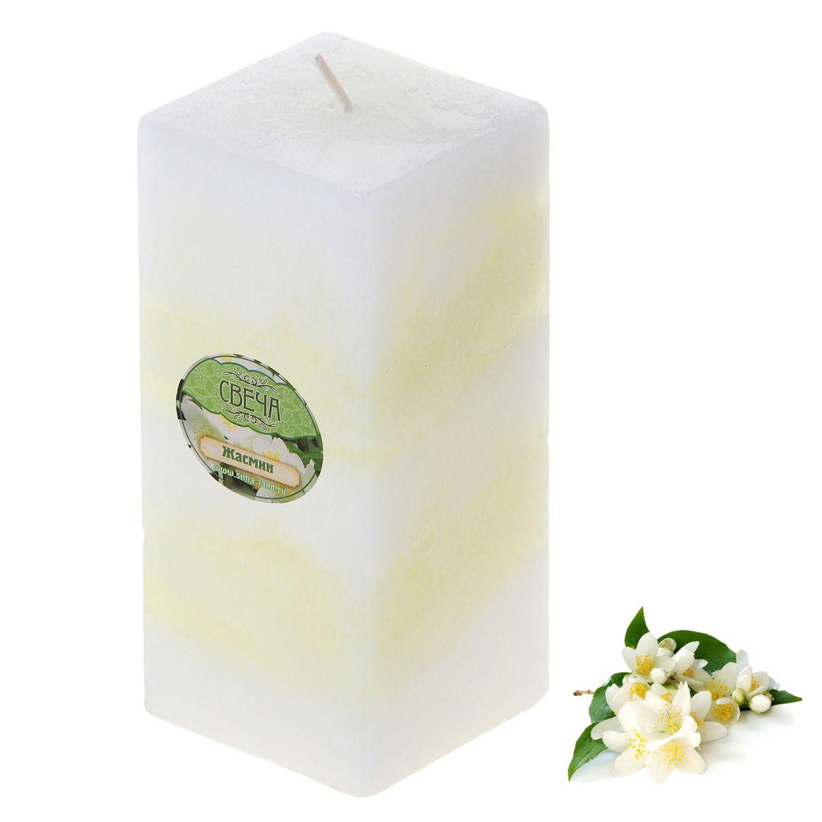 Свеча ароматизированная Sima-land Жасмин, высота 10 см свеча ароматизированная sima land корица высота 7 5 см 849544