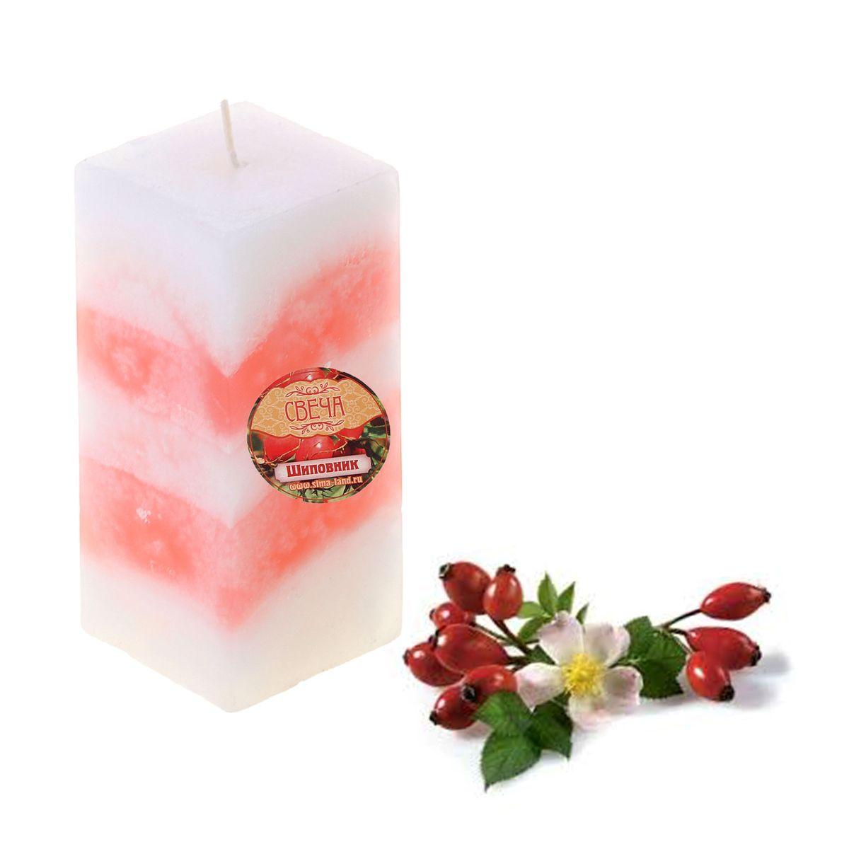 Свеча ароматизированная Sima-land Шиповник, высота 10 см