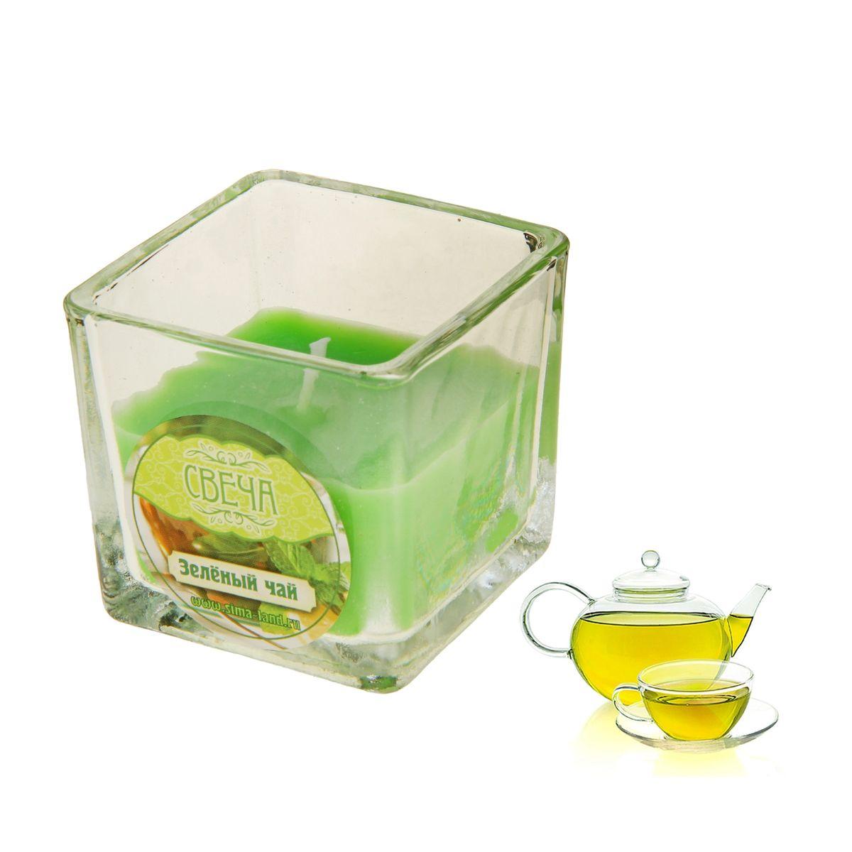 Свеча ароматизированная Sima-land Зеленый чай, высота 5 см цена