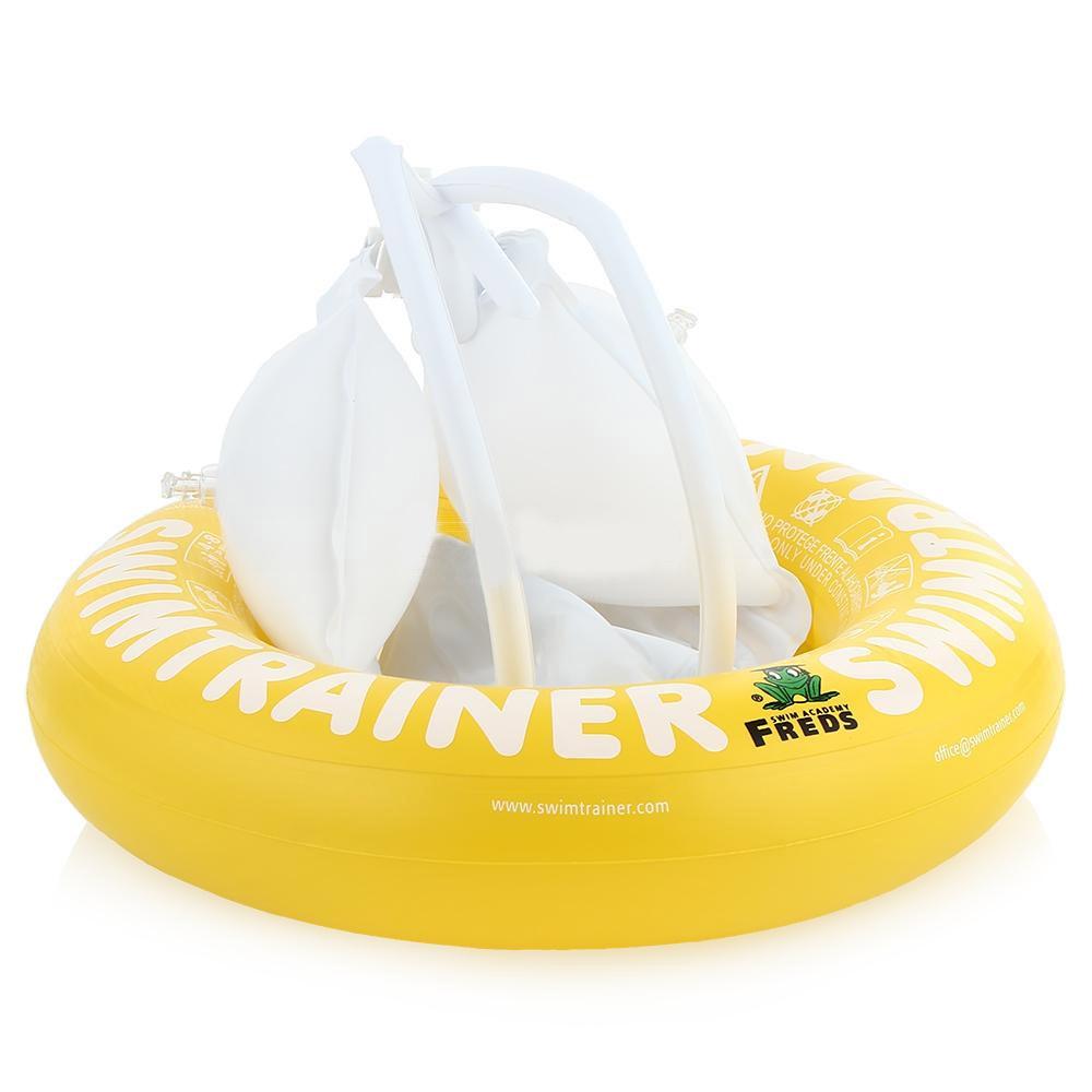 Круг надувной Swimtrainer Classic, от 4 до 8 лет, цвет: желтый. 1033010330Надувной круг Swimtrainer Classic изготовлен из ПВХ. Круг состоит из 5 независимых надувных камер. Помогает удерживать правильное положение тела в воде. Благодаря специальной системе крепления, ваш ребенок не выскользнет из круга. Круг подходит для детей 4-8 лет. Он обеспечивает минимальную поддержку, так как предназначен для почти умеющих плавать детей. Основная задача круга - плавный переход к самостоятельному плаванию. С кругом Swimtrainer Classic ваш ребенок будет плавать без страха и с удовольствием.Максимальный вес ребенка: 36 кг.