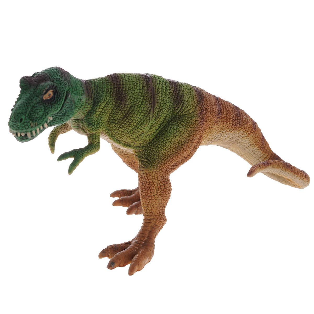 """Фигурка Megasaurs """"Тираннозавр"""" с двигающейся пастью, цвет: бежевый, светло-зеленый"""