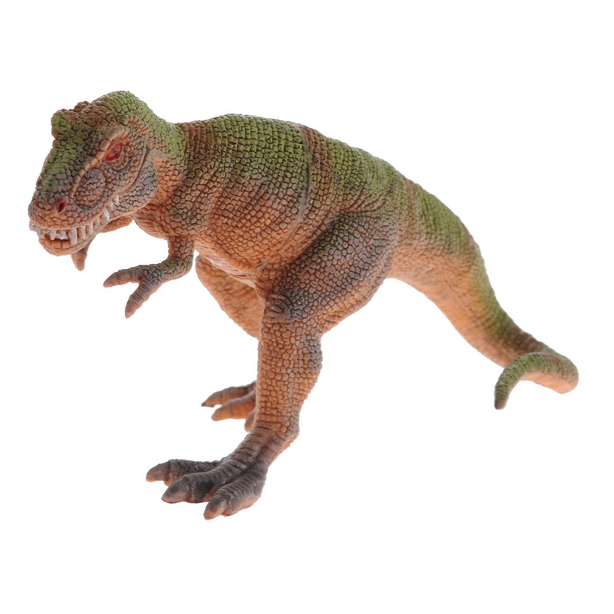 цена на Фигурка Megasaurs Тираннозавр с двигающейся пастью, цвет: оранжевый, зеленый
